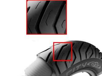 Michelin Buitenband - City Grip - 120-70-101